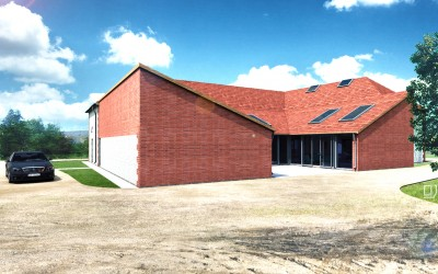 Stone and brick barn for sale